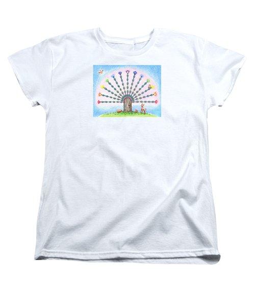 Chakra Tree Women's T-Shirt (Standard Cut) by Keiko Katsuta