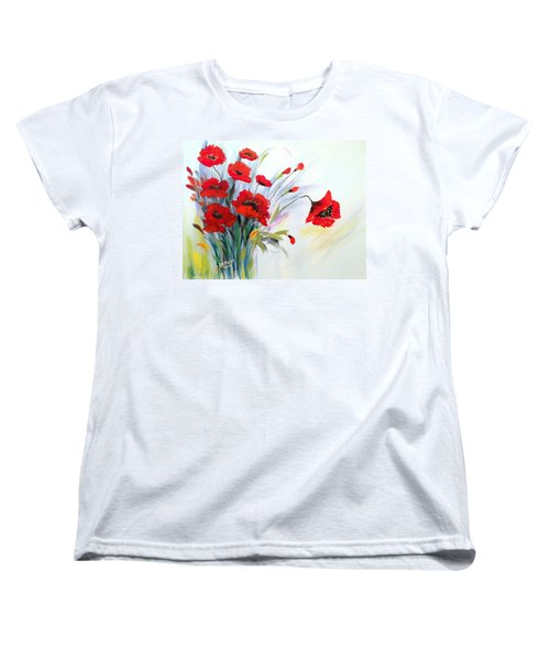 Women's T-Shirt (Standard Cut) featuring the painting Charming by Dorothy Maier