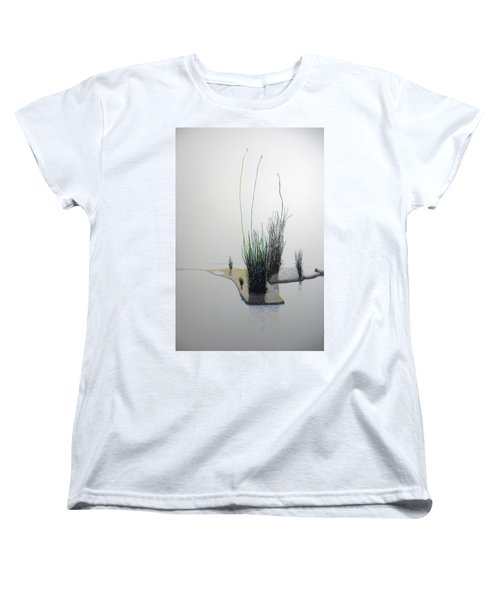 Women's T-Shirt (Standard Cut) featuring the painting Chasm by A  Robert Malcom