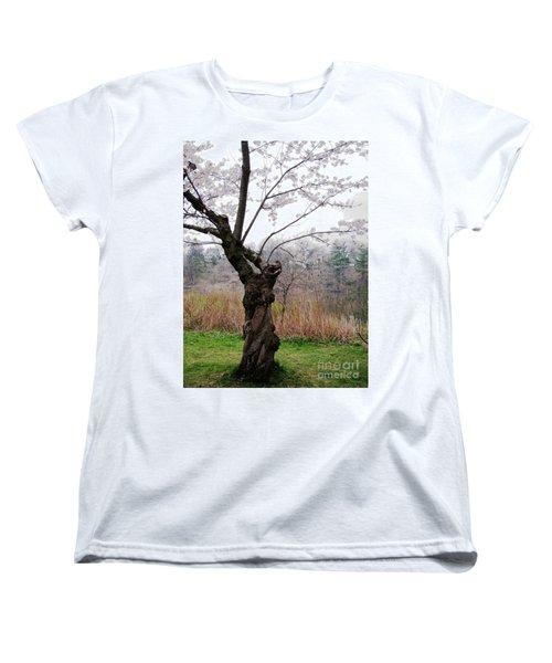 Cherry Blossom Time Women's T-Shirt (Standard Cut) by Nina Silver