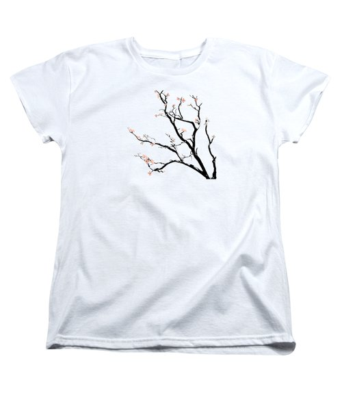 Cherry Blossoms Tree Women's T-Shirt (Standard Cut) by Gina Dsgn
