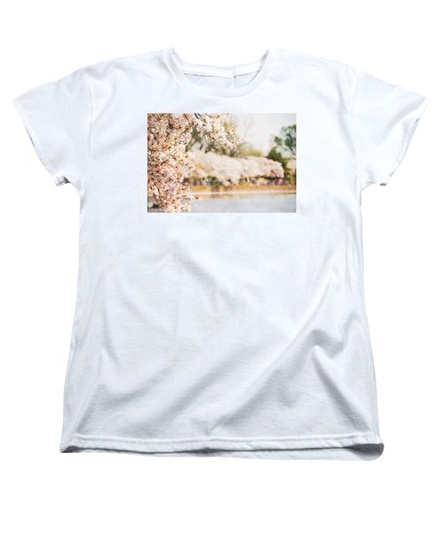Women's T-Shirt (Standard Cut) featuring the photograph Cherry Blossoms In Washington Dc by Vizual Studio
