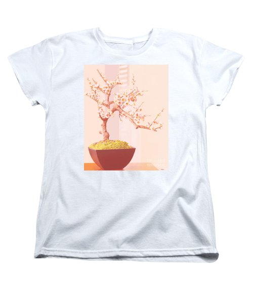 Cherry Bonsai Tree Women's T-Shirt (Standard Cut) by Marian Cates