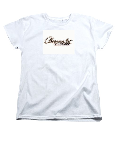 Chevrolet Camaro Emblem Women's T-Shirt (Standard Cut) by Jerry Fornarotto