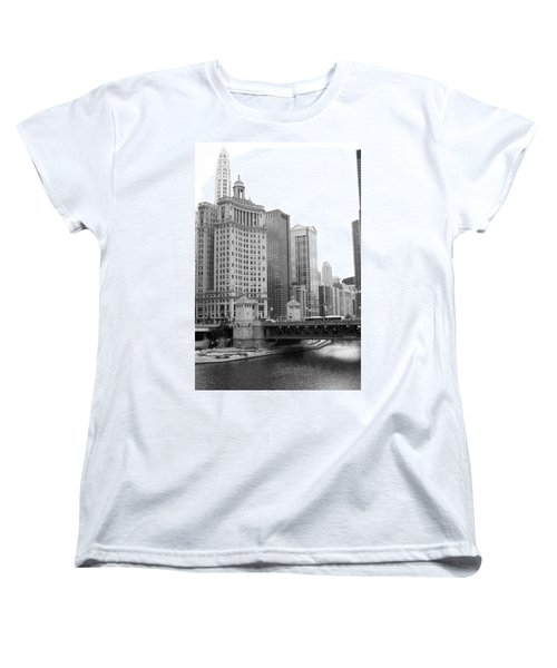 Chicago Downtown 2 Women's T-Shirt (Standard Cut) by Bruce Bley