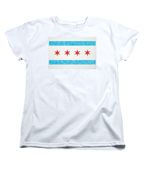 Chicago Flag Neighborhoods Women's T-Shirt (Standard Cut)