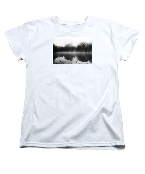 Women's T-Shirt (Standard Cut) featuring the photograph Chilly Morning Reflections by Miguel Winterpacht