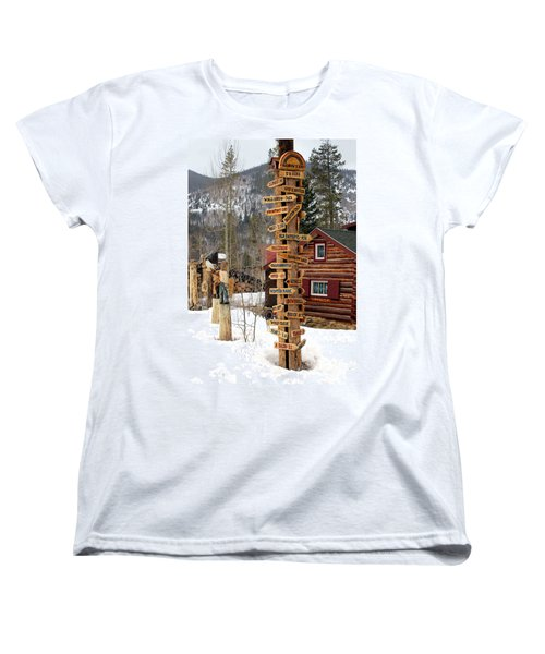 Women's T-Shirt (Standard Cut) featuring the photograph Choose Your Direction by Fiona Kennard