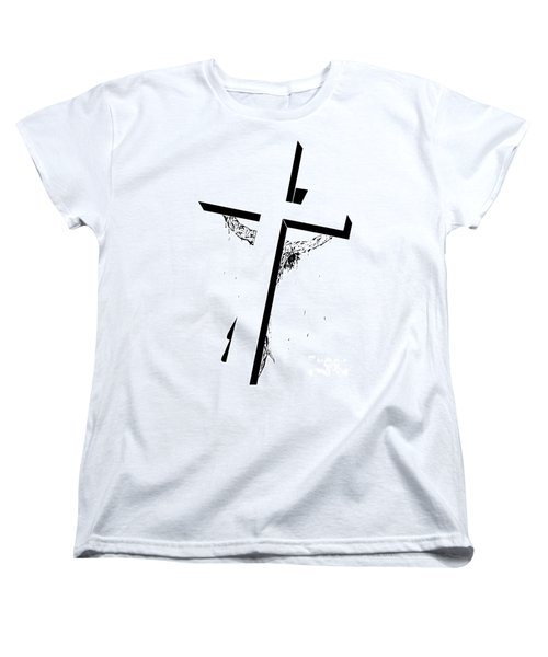 Christ On The Cross Women's T-Shirt (Standard Cut) by Justin Moore