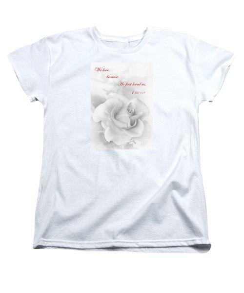 Christian Love Women's T-Shirt (Standard Cut) by David and Carol Kelly