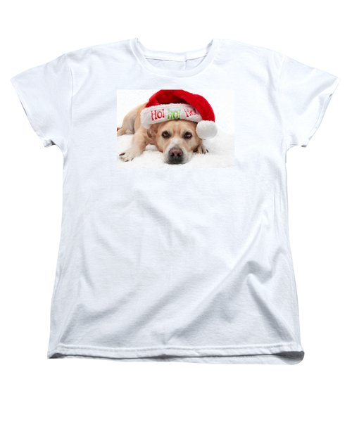 Women's T-Shirt (Standard Cut) featuring the photograph Christmas Dog by Aaron Berg