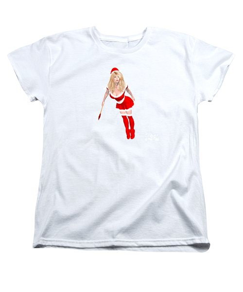 Christmas Elf Elise Women's T-Shirt (Standard Cut) by Renate Janssen