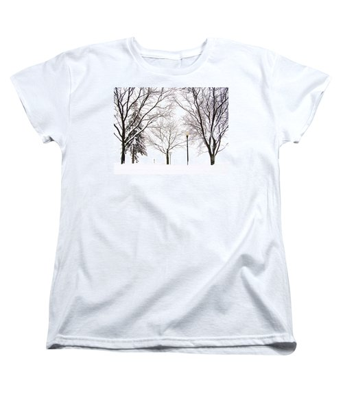 Women's T-Shirt (Standard Cut) featuring the photograph Christmas In Skaneateles by Margie Amberge