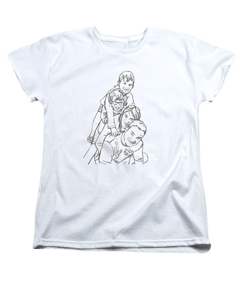 Women's T-Shirt (Standard Cut) featuring the drawing Christmas Tree by Olimpia - Hinamatsuri Barbu