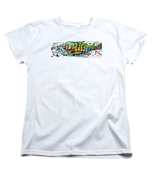 Women's T-Shirt (Standard Cut) featuring the painting Chum by Nicole Gaitan