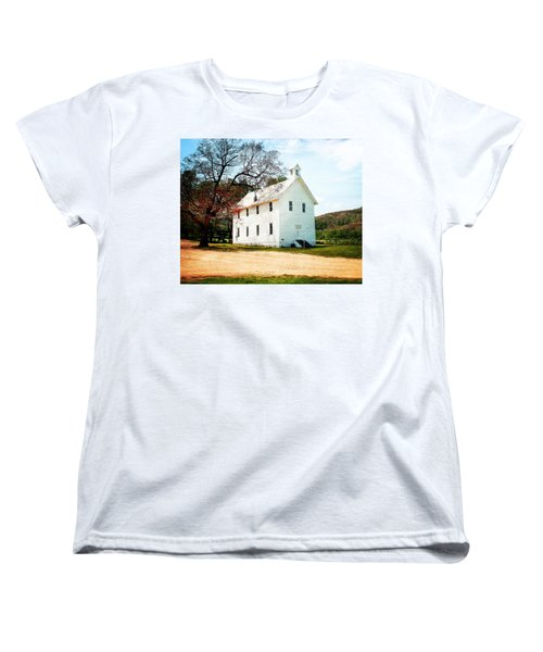 Women's T-Shirt (Standard Cut) featuring the photograph Church At Boxley by Marty Koch