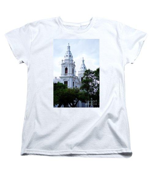 Church In Puerto Rico Women's T-Shirt (Standard Cut) by DejaVu Designs