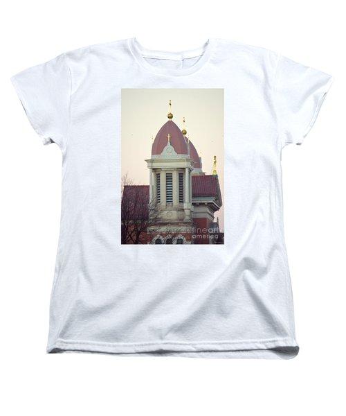 Church Of Gold Crosses Women's T-Shirt (Standard Cut) by Maria Urso
