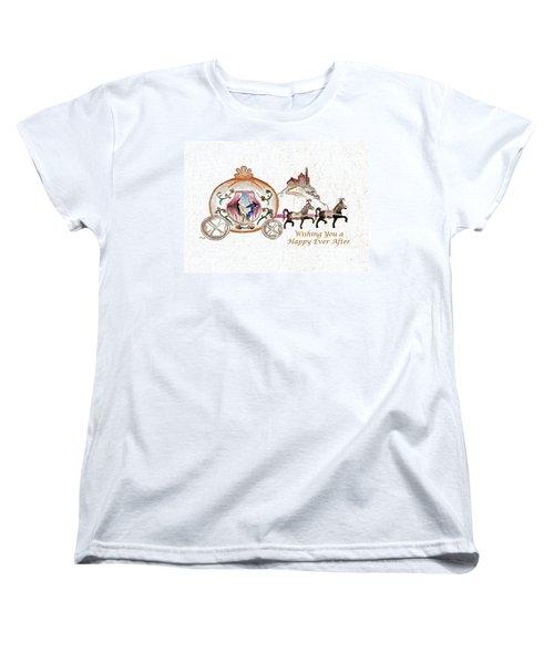 Cinderella Wedding Message Women's T-Shirt (Standard Cut) by MEA Fine Art