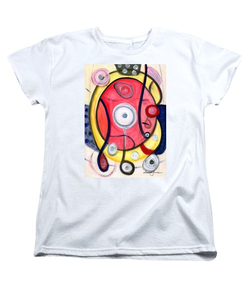 Women's T-Shirt (Standard Cut) featuring the painting Circle For Lovers by Stephen Lucas