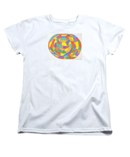 Women's T-Shirt (Standard Cut) featuring the painting Life Cycles by Stormm Bradshaw