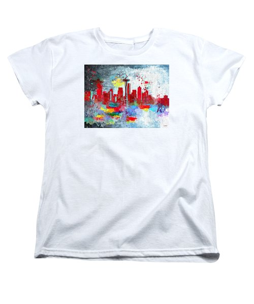 City Of Seattle Grunge Women's T-Shirt (Standard Cut)