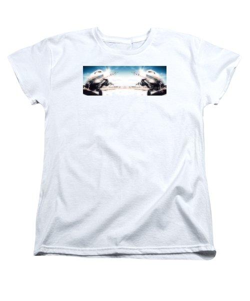 Women's T-Shirt (Standard Cut) featuring the photograph Propeller Aircraft by R Muirhead Art