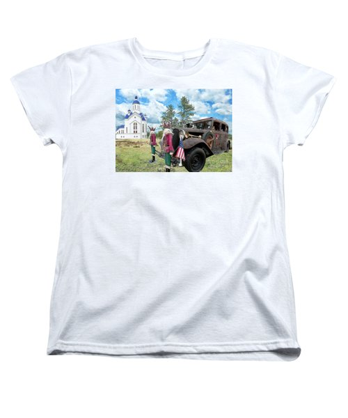 Women's T-Shirt (Standard Cut) featuring the photograph Classic Ride by Liane Wright