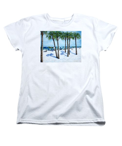 Women's T-Shirt (Standard Cut) featuring the painting Clearwater Beach Morning by Penny Birch-Williams