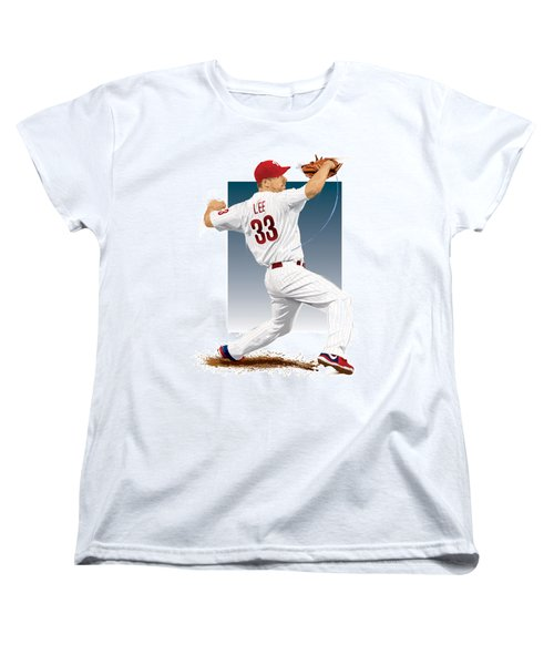 Cliff Lee Women's T-Shirt (Standard Cut) by Scott Weigner