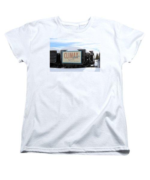 Women's T-Shirt (Standard Cut) featuring the photograph Climax Colorado by Fiona Kennard
