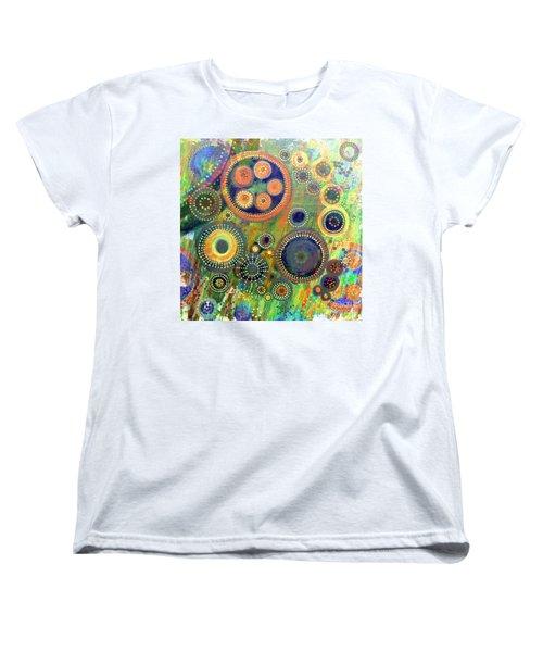 Clockwork Garden Women's T-Shirt (Standard Cut) by Barbara Moignard