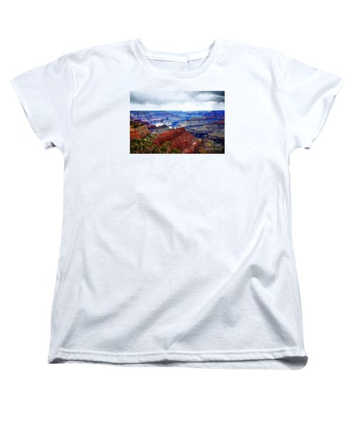 Women's T-Shirt (Standard Cut) featuring the photograph Cloudy Day At The Canyon by Paul Mashburn