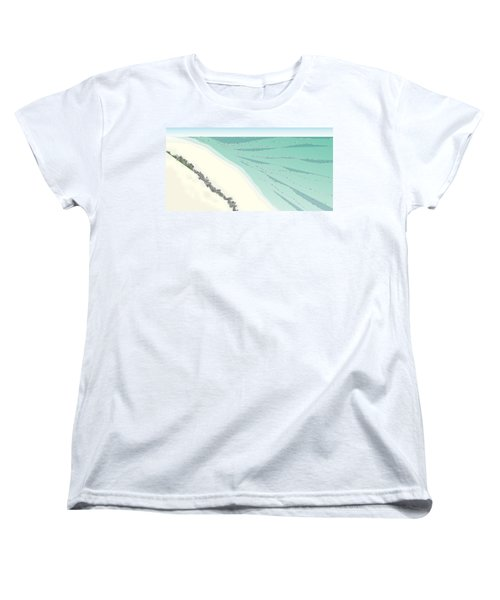Coastal Wash Women's T-Shirt (Standard Cut) by Kevin McLaughlin