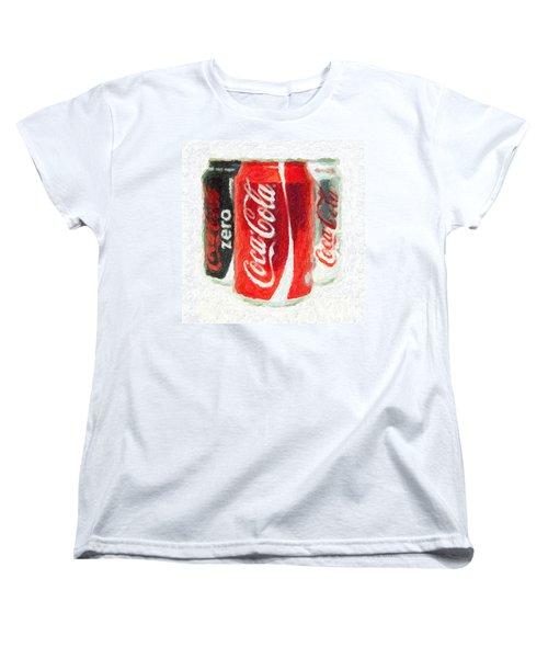 Coca Cola Art Impasto Women's T-Shirt (Standard Cut) by Antony McAulay