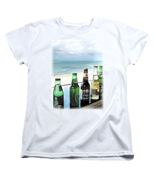 Cold Beers In Paradise Women's T-Shirt (Standard Cut) by Joan  Minchak