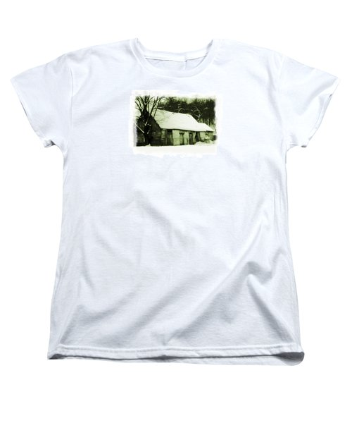 Women's T-Shirt (Standard Cut) featuring the photograph Countryside Winter Scene by Nina Ficur Feenan