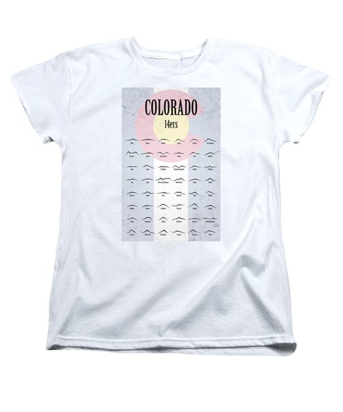 Women's T-Shirt (Standard Cut) featuring the photograph Colorado 14ers Poster by Aaron Spong