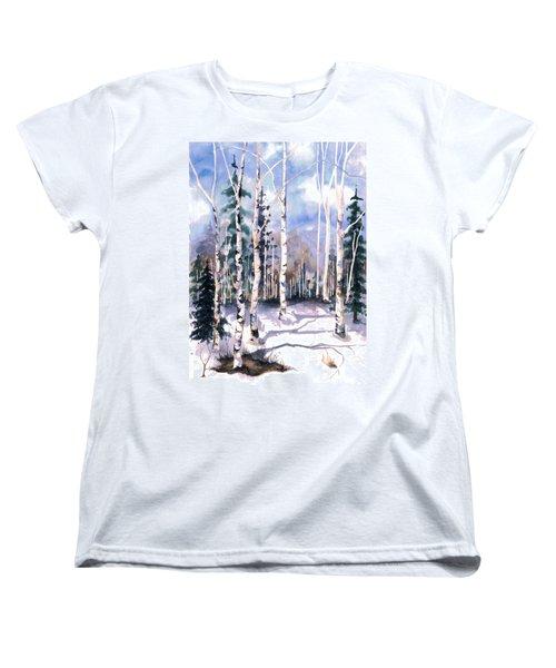 Colorado Aspens 2  Women's T-Shirt (Standard Cut) by Barbara Jewell