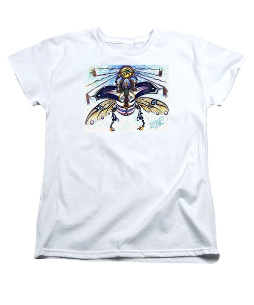 Colored Cultural Zoo B Sacred Scarab Women's T-Shirt (Standard Cut) by Melinda Dare Benfield