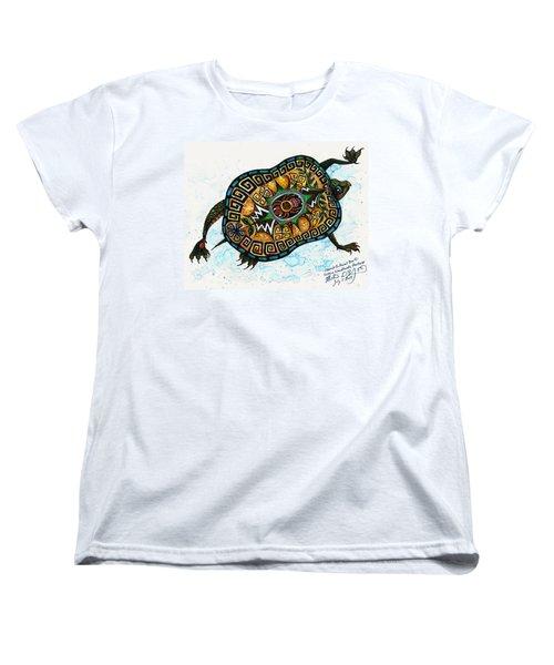 Colored Cultural Zoo C Eastern Woodlands Tortoise Women's T-Shirt (Standard Cut)