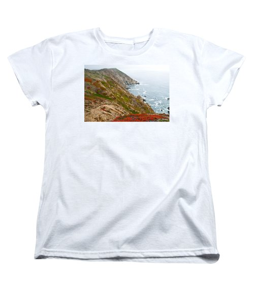Women's T-Shirt (Standard Cut) featuring the photograph Colorful Cliffs At Point Reyes by Jeff Goulden