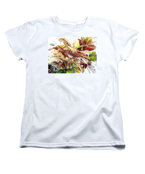 Colorful - Croton - Plant Women's T-Shirt (Standard Cut) by D Hackett