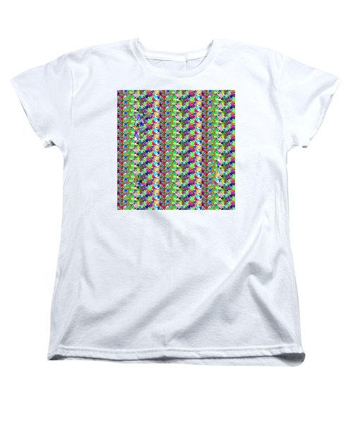 Women's T-Shirt (Standard Cut) featuring the photograph Colorful Star Graphics Decorations by Navin Joshi