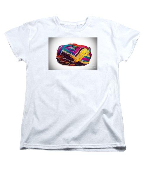 Colorful Yarn Women's T-Shirt (Standard Cut) by Les Palenik
