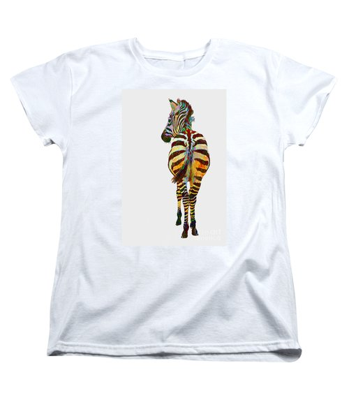 Colorful Zebra Women's T-Shirt (Standard Cut)