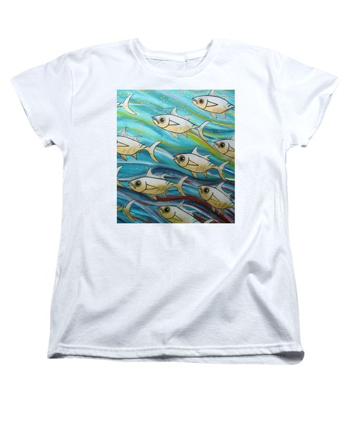 Coloured Water Fish Women's T-Shirt (Standard Fit)