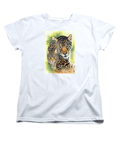 Women's T-Shirt (Standard Cut) featuring the mixed media Compelling by Barbara Keith