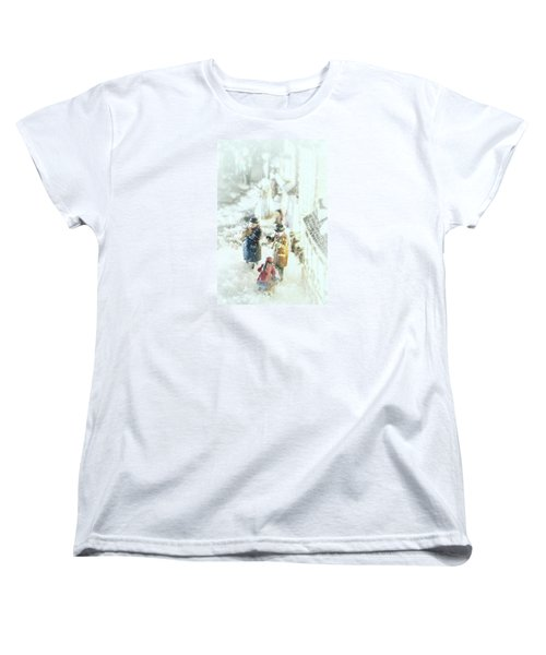 Women's T-Shirt (Standard Cut) featuring the photograph Concert In The Snow by Caitlyn  Grasso