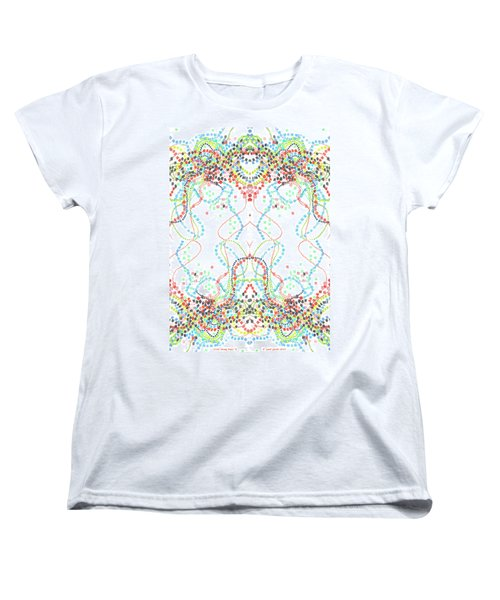 Women's T-Shirt (Standard Cut) featuring the drawing Confetti Rorschach by Carol Jacobs